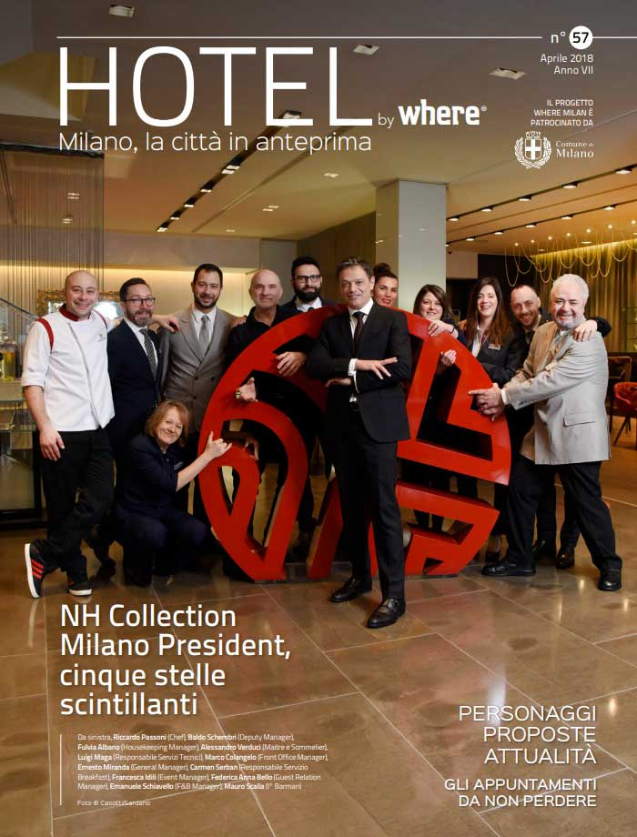 Cover Hotel by Where Milano n. 57 - Aprile 2018